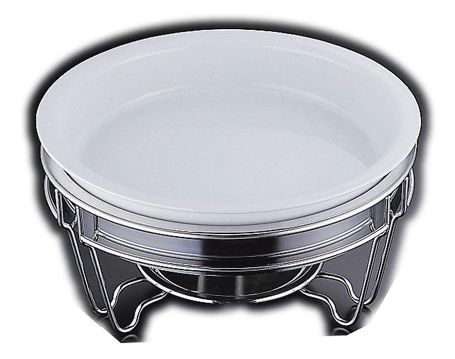 ヴァンセンヌ 丸チェーフイングTKG仕様陶器仕切無中皿 目皿付