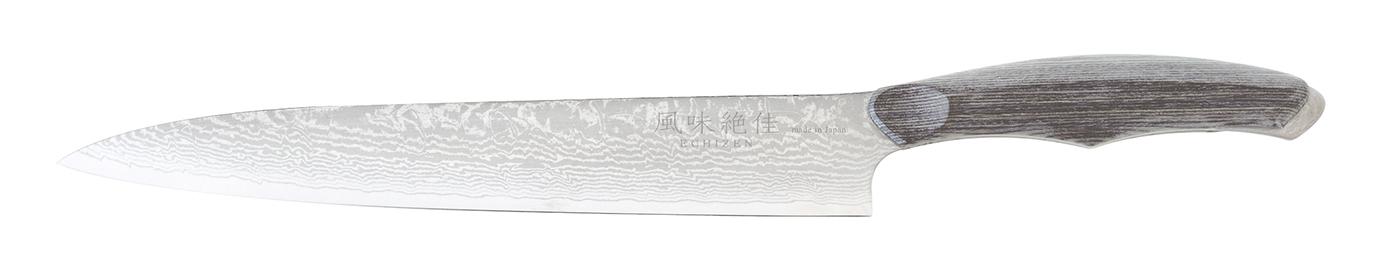【驚きの値段】 風味絶佳ECHIZEN 薄引 210mm グレー 刃渡り:210, 名栗村 63d73a6b