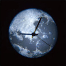 Projection Clock Moon (Moon projection clock) white [LED projection projector clock wall clock,