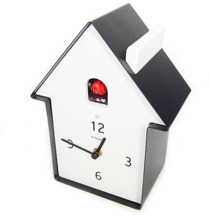 鳩時計 CUCKOO MERIDIANA ブラック 【送料無料】 [鳩時計 壁掛け時計 置き時計]