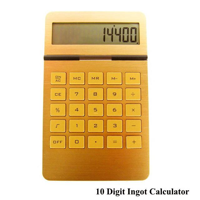 電卓 おしゃれ ゴールド カリキュレーター 計算機  電卓 ゴールド カリキュレーター 10 Digit Ingot Calculator 計算機