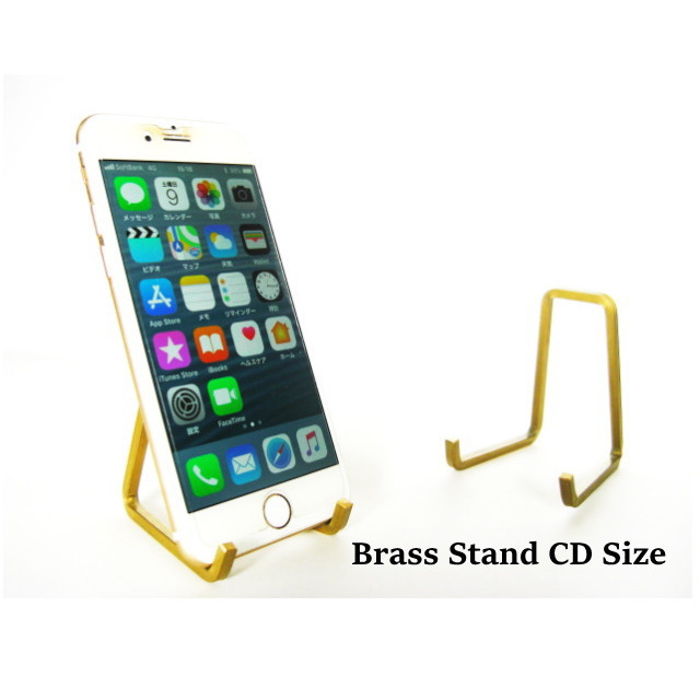 CDスタンド スマホスタンド Brass Stand CD Size ブラス 真鍮 日本製