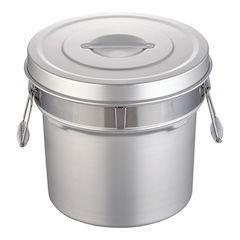 【全品P5倍~10倍】アルマイト段付二重食缶 249-R 14L ASY74249