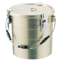 【全品P5倍~10倍】アルマイト 丸型二重クリップ付食缶 238-A 10L ASY15238