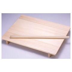 【全品P5倍~10倍】木製 ノシ板 メン棒付 桐材 大 ANS0701