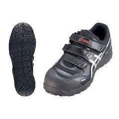【全品P5倍~10倍】アシックス ウィンジョブ安全靴CP102 BK×シルバー25.5cm