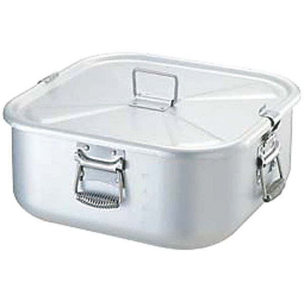 【全品P5倍~10倍】アルミガス用炊飯鍋 5升用 蓋付 9L 中尾アルミ製作所 CD:120008