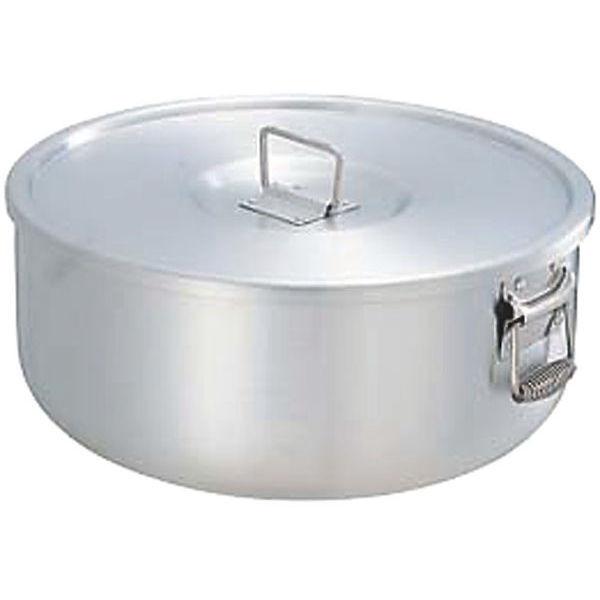 【全品P5倍~10倍】アルミガス用丸型炊飯鍋 7升用 蓋付 12.6L 中尾アルミ製作所 CD:120012