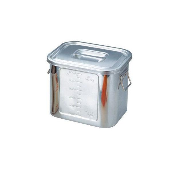 【全品P5倍~10倍】BK 18-8 角型目盛付キッチンポット 36型 本間冬治工業 CD:016060