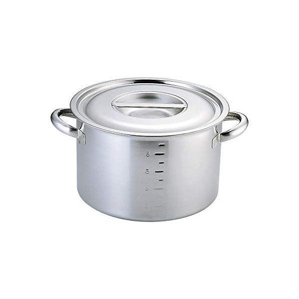 【全品P5倍~10倍】クローバー 電磁モリブデン半寸胴鍋(目盛付) 33cm 大屋金属 CD:015230