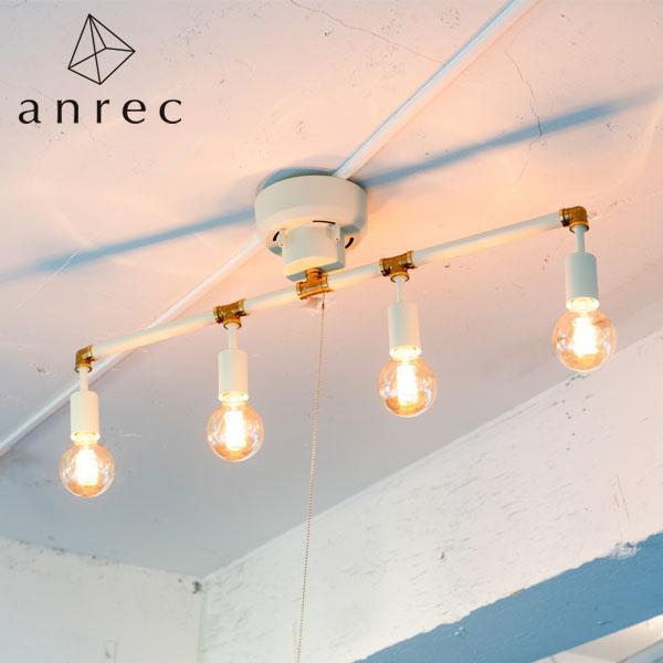 【P5倍】anrec 4灯シーリングライト シュナール ARC-B015 (ホワイト) アンレック 照明 ライト シンプル アンティーク クラシック