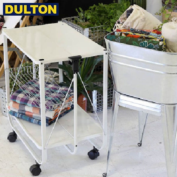 【P5倍】DULTON FOLDING TROLLEY WHT 【品番:H11907-WT】 ダルトン インダストリアル アメリカン ヴィンテージ 男前