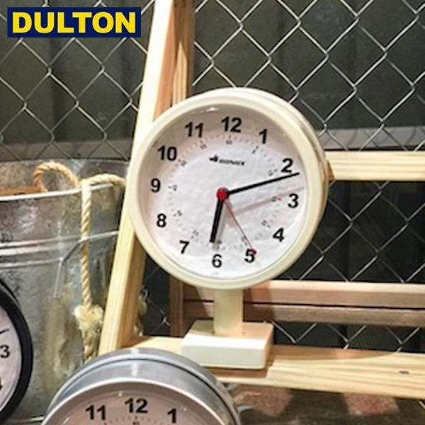 【P5倍】DULTON DOUBLE FACE CLOCK 170D IVORY 【品番:S624-659IV】 ダルトン インダストリアル アメリカン ヴィンテージ 男前 ダブルフェイスクロック アイボリー
