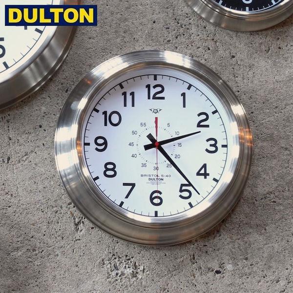 【P5倍】DULTON ウォールクロック ブリストル S-40 ホワイト (品番:K725-924WD) ダルトン インダストリアル アメリカン ヴィンテージ 男前