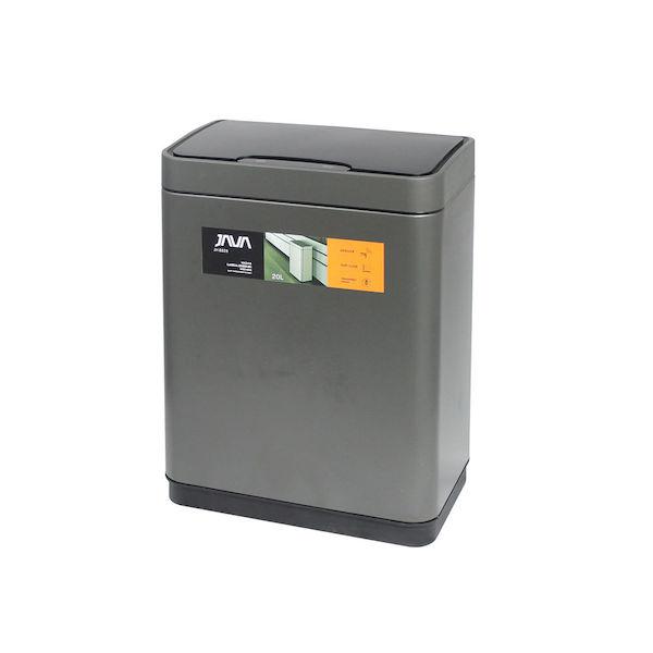 【P10倍】JAVA Vegas センサービン ステンレス ゴミ箱 モーションセンサー搭載 インナーボックス付き 20L 30リットルゴミ袋対応 チタニウムグレー ジャバ OPUS オーパス