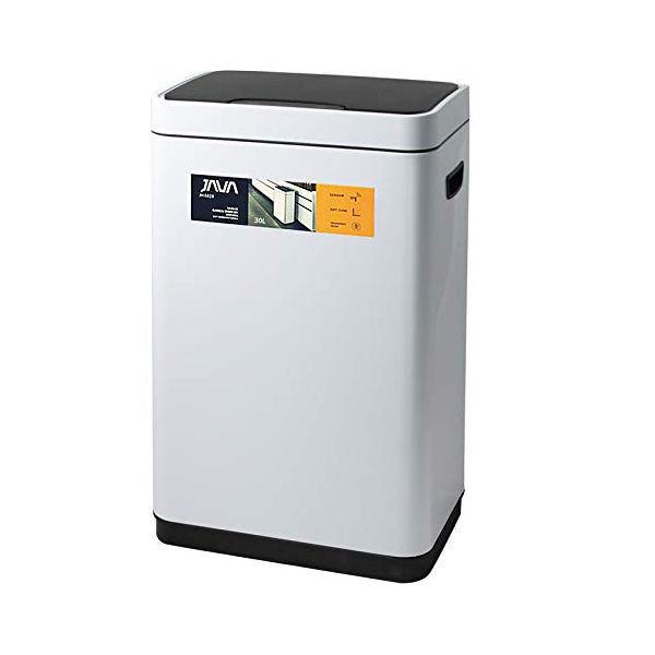 【P10倍】JAVA Vegas センサービン ステンレス ゴミ箱 モーションセンサー搭載 インナーボックス付き 30L ホワイト ジャバ OPUS オーパス