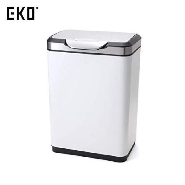 【送料無料&ポイント10倍】EKO ゴミ箱 タッチプロ ビン ホワイト 45L EK9178MP-45L-WH
