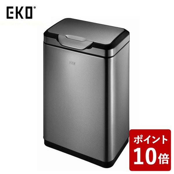 【送料無料&ポイント10倍】EKO ゴミ箱 タッチプロ ビン ガンメタ 30L EK9178BS-30L