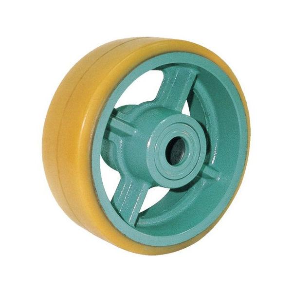 【全品P5倍~10倍】ヨドノ 鋳物重荷重用ウレタン車輪ベアリング入 UHB150X65 UHB150X65