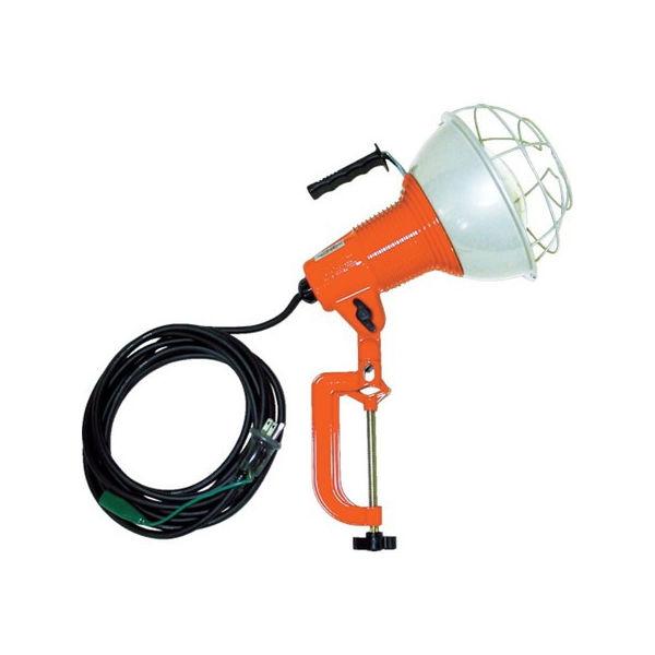 【全品P5倍~10倍】防雨型作業灯 リフレクターランプ500W 100V接地付5m バイス付 ハタヤ RG505K-6012