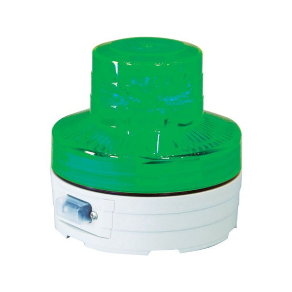【全品P5倍~10倍】電池式LED回転灯 ニコUFO 夜間自動点灯タイプ 緑 日動 NUBG-5026