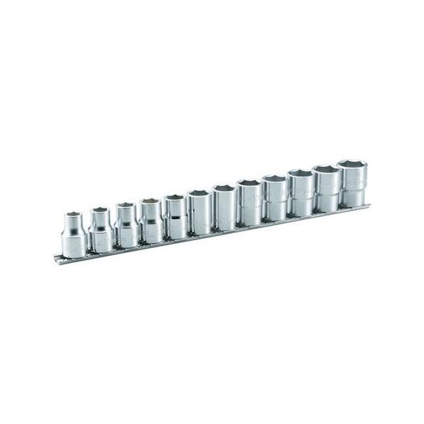 【全品P5倍~10倍】TONE ソケットセット(6角・ホルダー付) 12pcs HS412