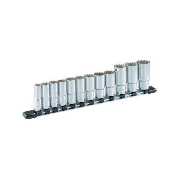ディープソケットセット(12角・ホルダー付) 12pcs TONE HDL312A-8100