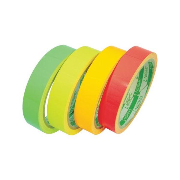 【全品P5倍~10倍】日東エルマテ 蛍光テープ 200mmX5m グリーン LK200GN