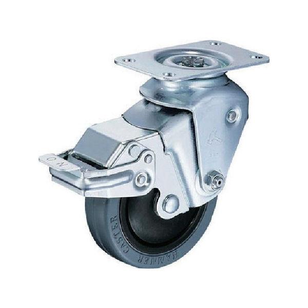 クッションキャスター 自在SP付 ゴム車 線径2.6mm ハンマー 935BBEFR10026BAR01-6023