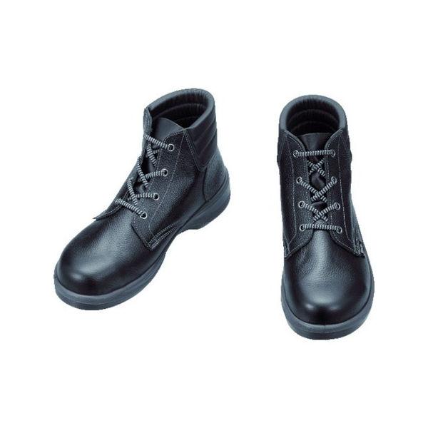 【全品P5倍~10倍】安全靴 編上靴 7522黒 24.5cm シモン 7522N24.5-3043
