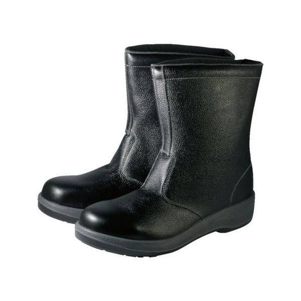 【全品P5倍~10倍】安全靴 半長靴 7544黒 25.5cm シモン 7544N25.5-3043
