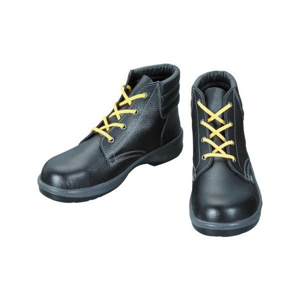 【全品P5倍~10倍】静電安全靴 編上靴 7522黒静電靴 24.0cm シモン 7522S24.0-3043