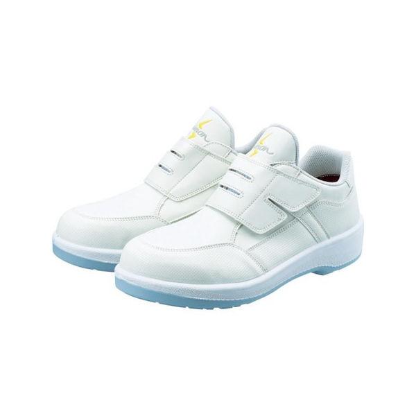 静電プロスニーカー 短靴 8818N白静電仕様 25.0cm シモン 8818WS25.0-3043