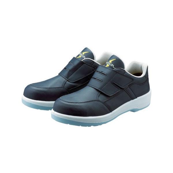 静電プロスニーカー 短靴 8818N紺静電仕様 26.5cm シモン 8818BUS26.5-3043