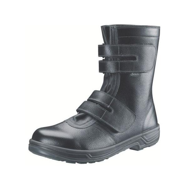 【全品P5倍~10倍】安全靴 長編上靴マジック式 SS38黒 24.5cm シモン SS3824.5-3043
