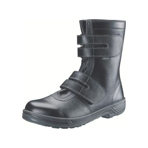 安全靴 長編上靴マジック式 SS38黒 28.0cm シモン SS3828.0-3043