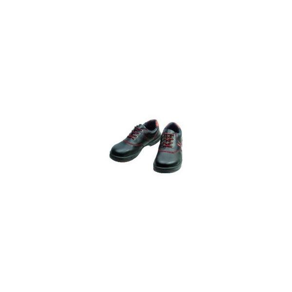 【全品P5倍~10倍】安全靴 短靴 SL11-R黒/赤 25.0cm シモン SL11R25.0-3043