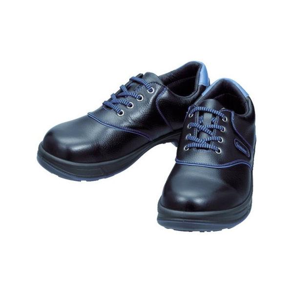 安全靴 短靴 SL11-BL黒/ブルー 24.0cm シモン SL11BL24.0-3043