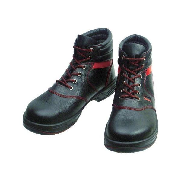 安全靴 編上靴 SL22-R黒/赤 26.0cm シモン SL22R26.0-3043