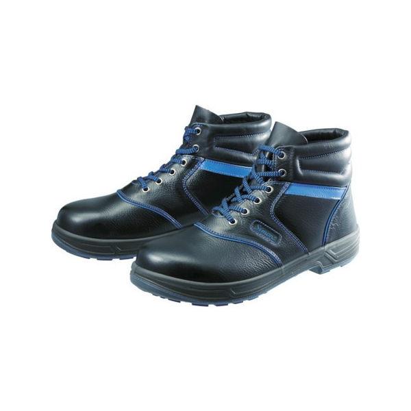 安全靴 編上靴 SL22-BL黒/ブルー 27.5cm シモン SL22BL27.5-3043