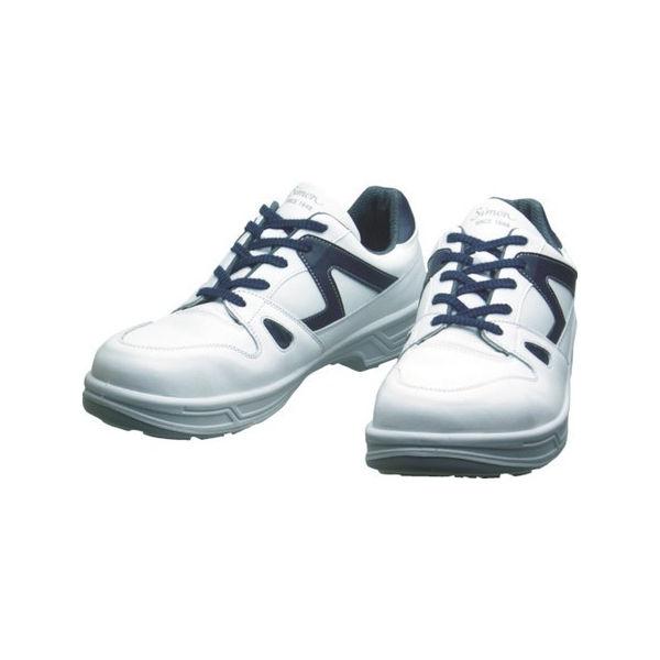 安全靴 短靴 8611白/ブルー 23.5cm シモン 8611WB23.5-3043