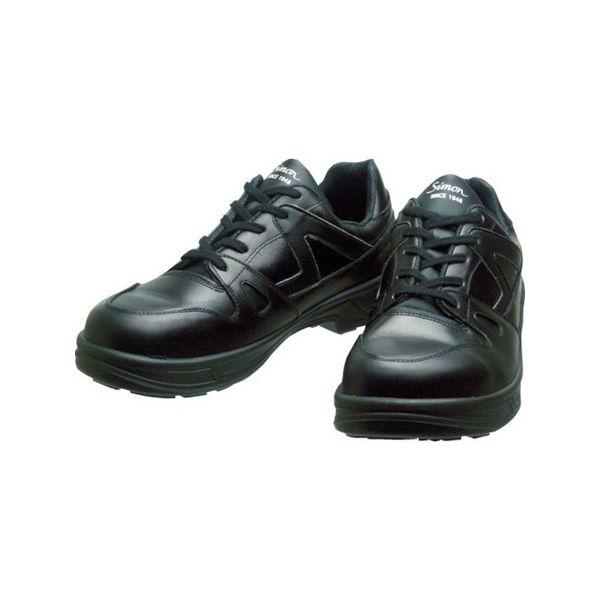【全品P5倍~10倍】安全靴 短靴 8611黒 24.5cm シモン 8611BK24.5-3043