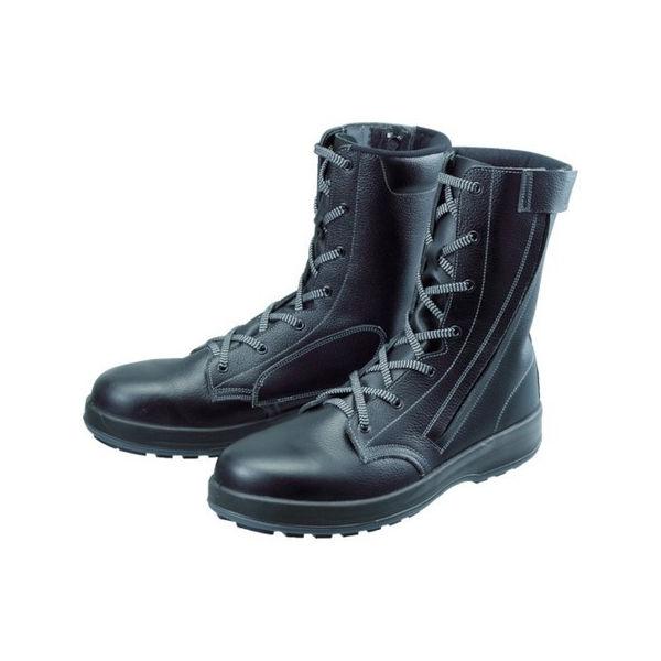 【全品P5倍~10倍】安全靴 長編上靴 WS33黒C付 26.5cm シモン WS33C26.5-3043