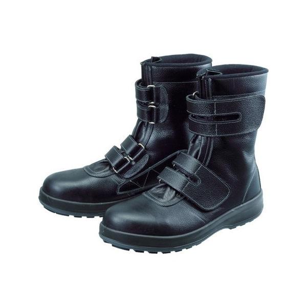 安全靴 長編上靴 マジック WS38黒 27.5cm シモン WS3827.5-3043
