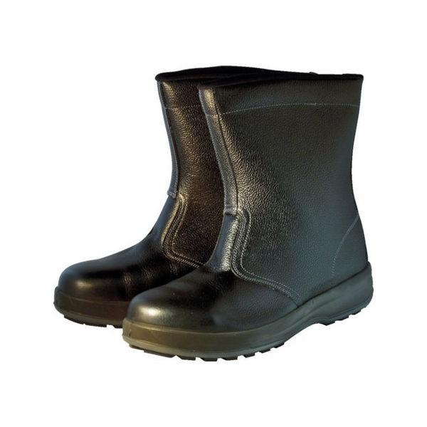 安全靴 半長靴 WS44黒 25.0cm シモン WS44BK25.0-3043
