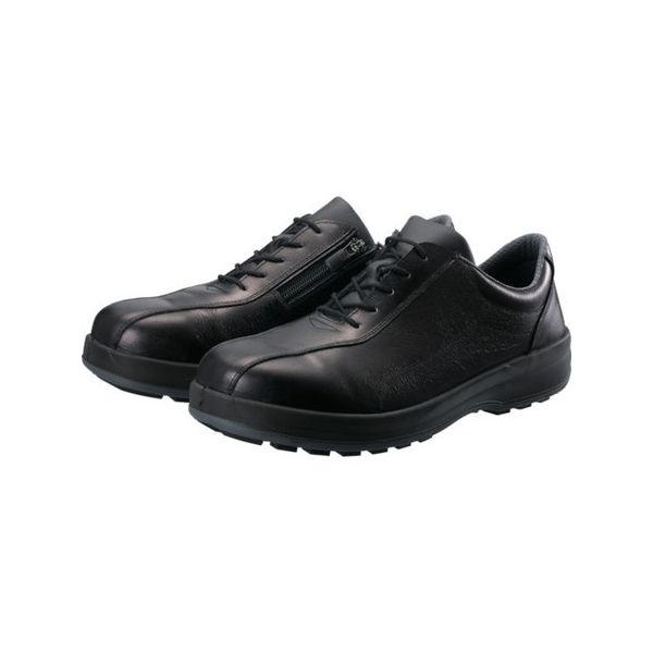 【全品P5倍~10倍】シモン 耐滑・軽量3層底安全短靴8512黒C付 23.5cm 8512C235