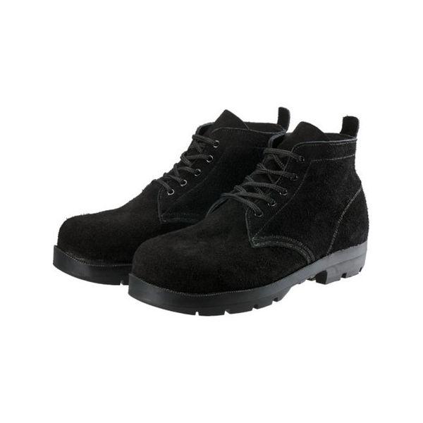 シモン 耐熱安全編上靴HI22黒床耐熱 27.5cm HI22BKT275