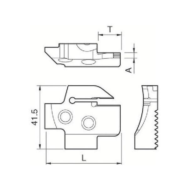 【全品P5倍~10倍】溝入れ用ホルダ 京セラ KGDFR504BC-2039