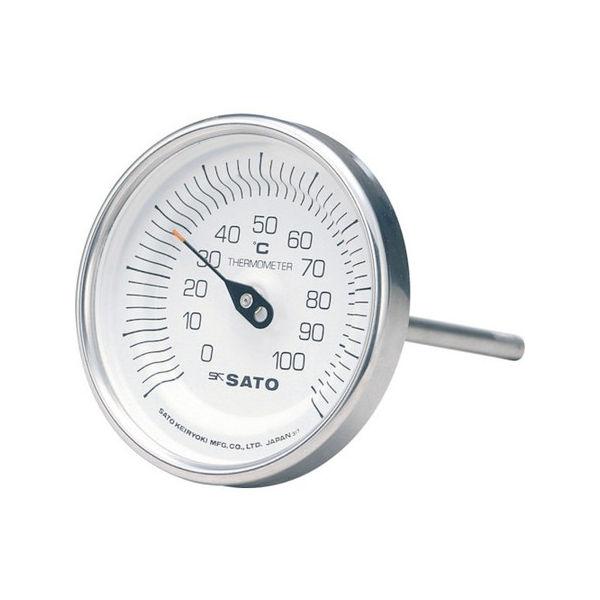 【全品P5倍~10倍】バイメタル温度計BM-T型 佐藤 BMT90S3-3011
