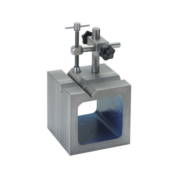 【海外限定】 SK PLOTS 100mm SBV100T-8702:neut 鋳鉄製V溝付桝型ブロック-DIY・工具
